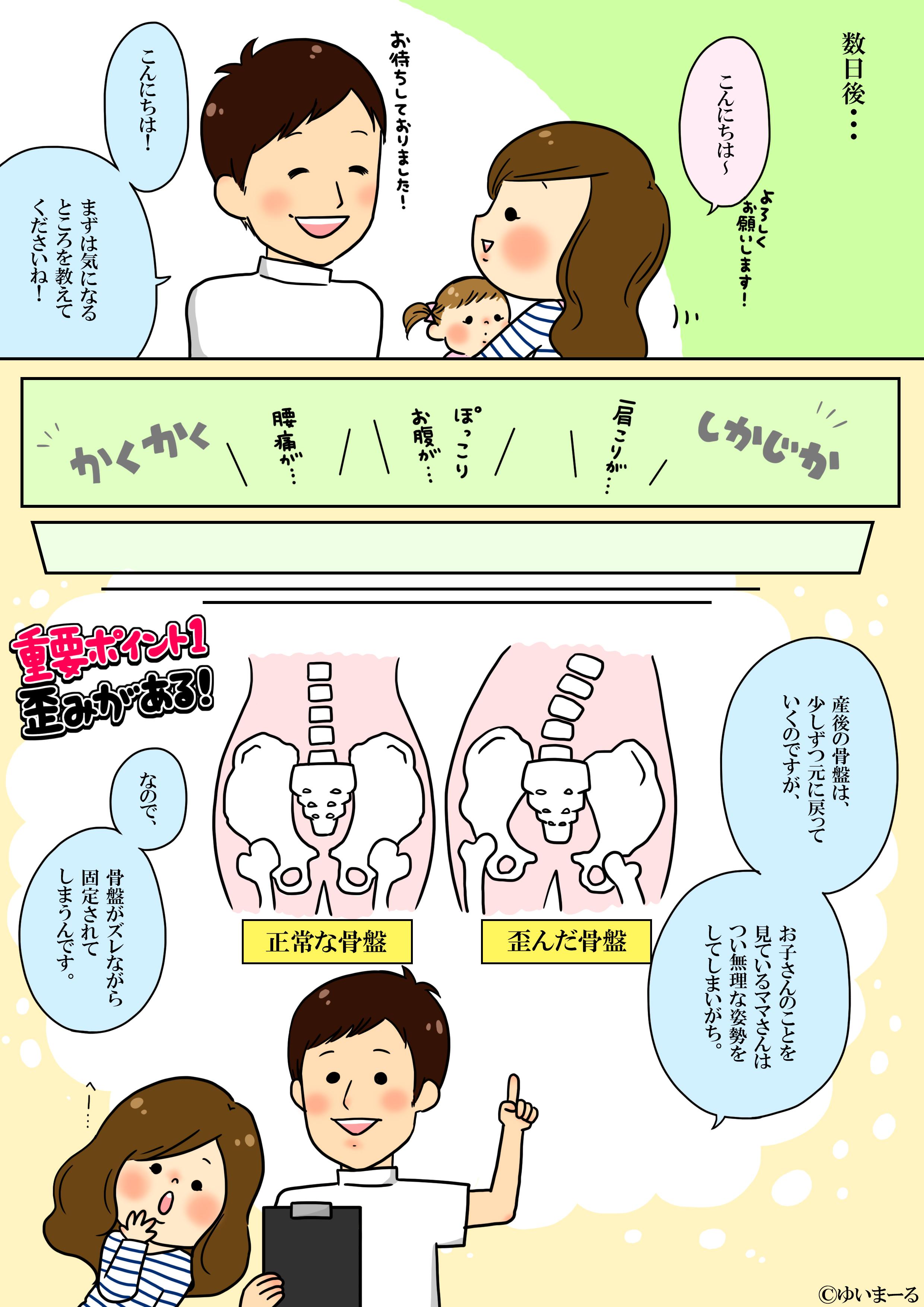 産後骨盤矯正漫画